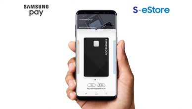 Samsung Pay with S-estore Logo