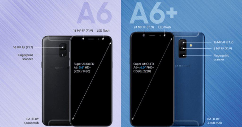 Samsung Galaxy A6 และ A6 Plus