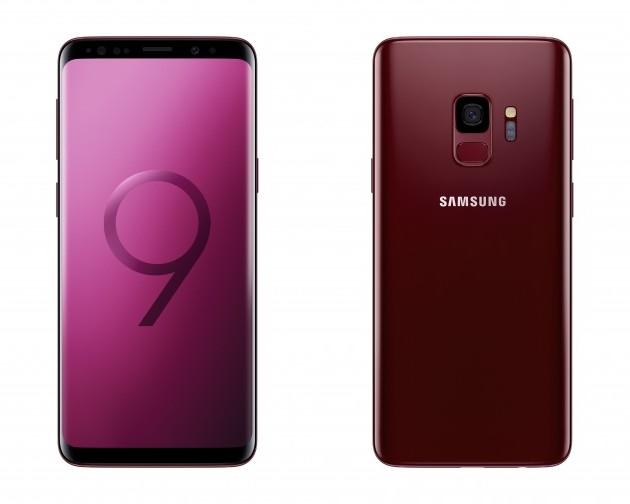 Samsung Galaxy S9 in Burgundy Red