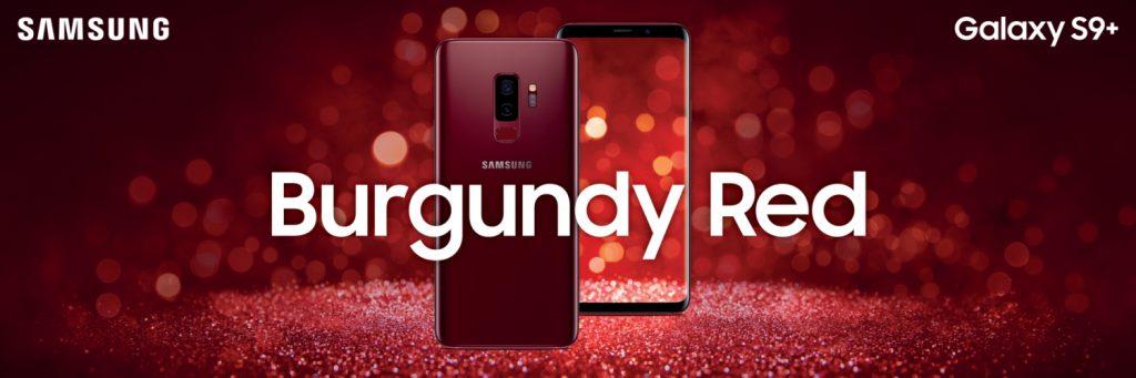 Samsung Galaxy S9 Plus สีใหม่ Burgundy Red 1