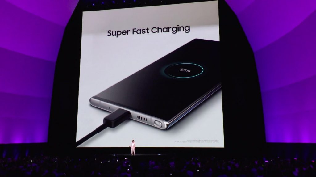 Samsung Galaxy Note 10 Super Fast Charging