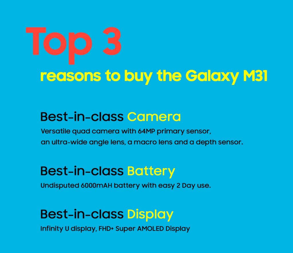 Samsung Galaxy M31 is coming