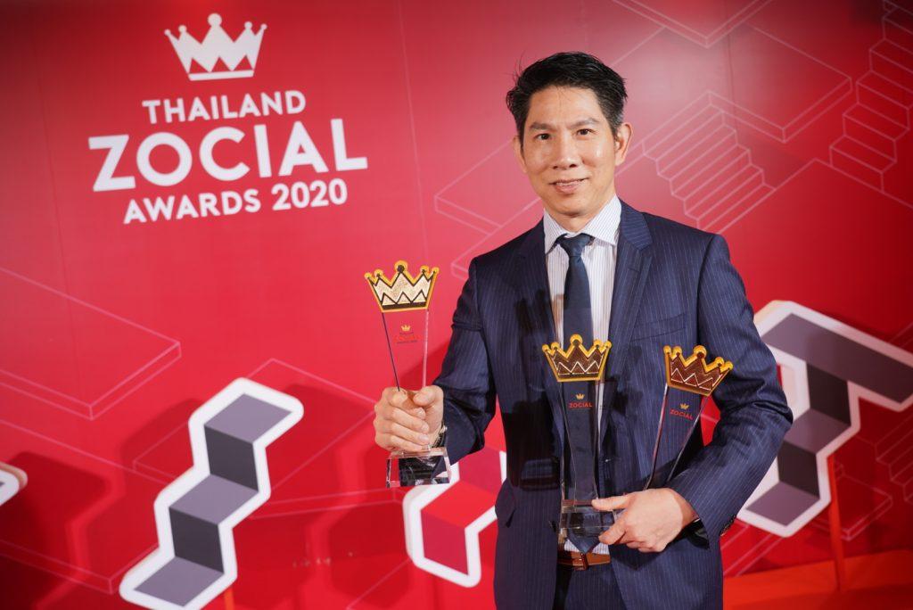 samsung 3 awards at Thailand Zocial Awards 2020