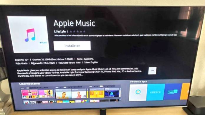 Apple Music on Samsung Smart TVs